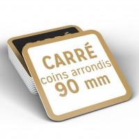 Sous-Bock CARRÉ coins ronds 90mm