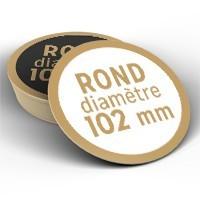 Sous-Bock ROND - Diamètre 102mm